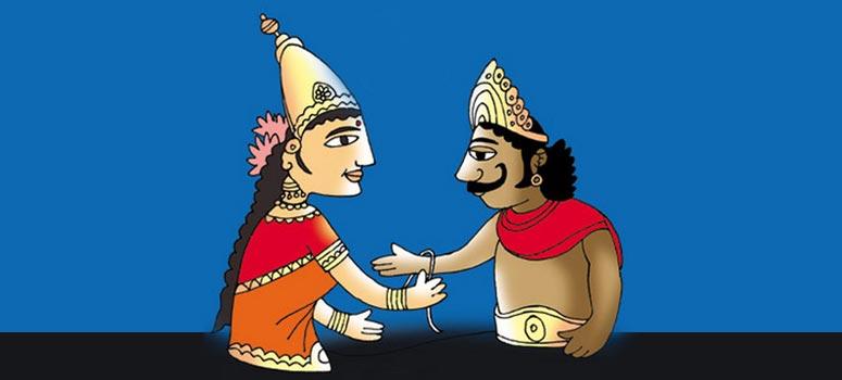 King Bali & Goddess Lakshmi