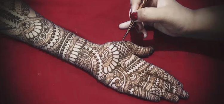 Traditional mehendi design