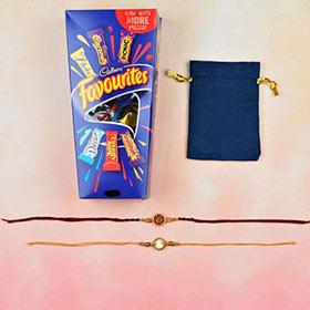 Aum & Ganesha Rakhi with Cadbury Favourite  -FOR AUSTRALIA