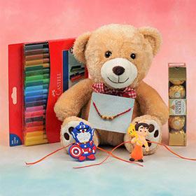 Three Rakhi Gift Hamper for Kids