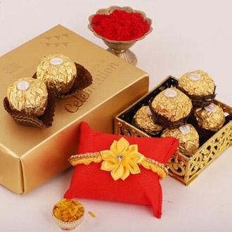 Sunny Rakhi & 12pc Ferrero