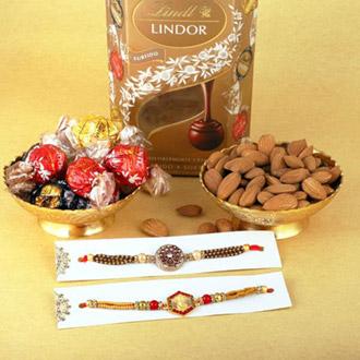 Spiritual Rakhis & Lindor Truffles, Almond