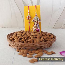 Lumba Rakhi with Almonds