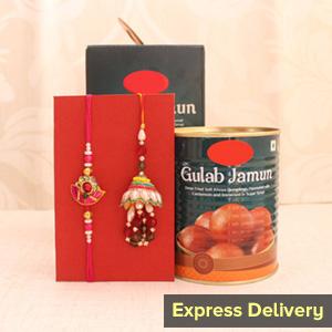 Elegant and Sweet Combo - Rakhi to Pune