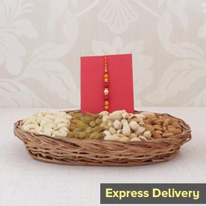 Dry Fruits with Elegant Rakhi