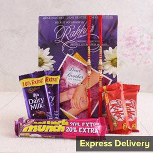 A chocolaty Rakhi surprise