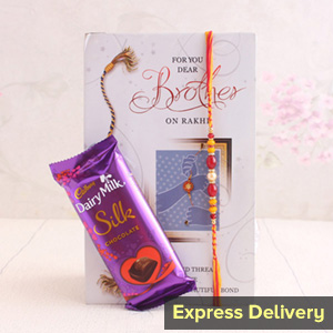 Heartiest Rakhi gift combo with card