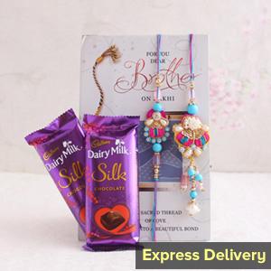 Bhaiya-Bhabhi Rakhi with chocolates