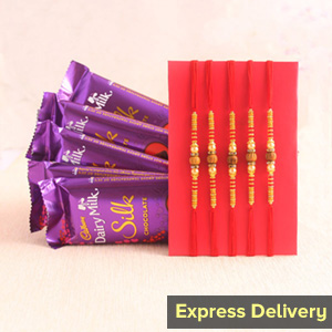 A heartfelt combo of Rakhi and chocolates - Rakhi to Pune