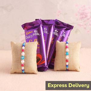 Rakhi with Silk chocolates