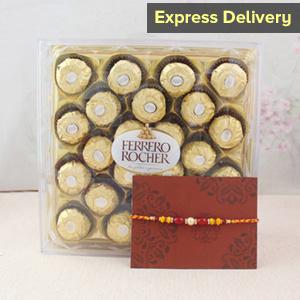 Rakhi surprise with Ferrero Rocher