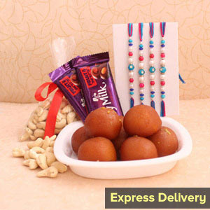Sweetest Rakhi Hamper - Rakhi to Pune
