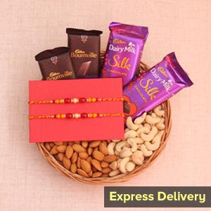 Nutty Chocolate Rakhi Hamper
