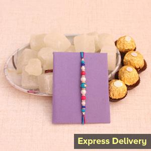 Rakhi with Chocolates and Petha