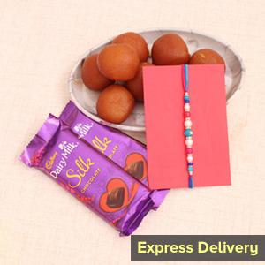 Silky Jamun Rakhi Surprise