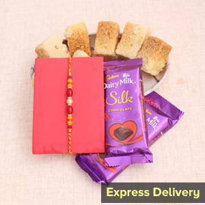 Love for Sweets Rakhi Combo