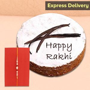 Pearl Rakhi with ½ Kg Vanilla Cake