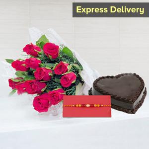 Raksha Bandhan Fondness - Rakhi with Flowers