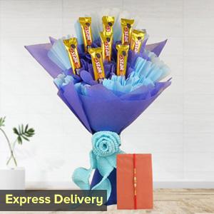 Chocolate Bouquet with Rakhi