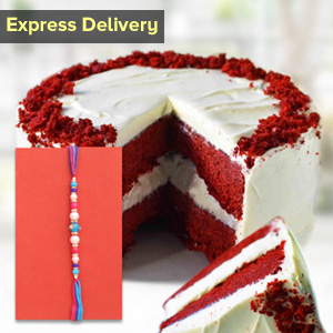 Rakhi with a special cake
