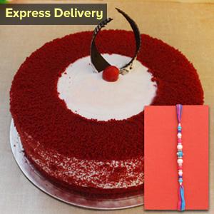 Lovely Rakhi and cake combo