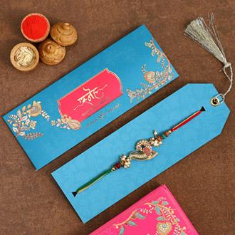 Beautiful Peacock Designer Rakhi
