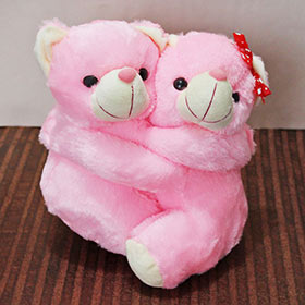 Pink Love Pair - 30 cm - Soft Toys For Sister
