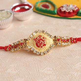 Golden Ganesha Rakhi - Ethnic Rakhi