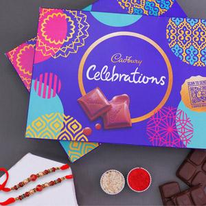 Rakhi Celebrations Combo - Rakhi with Cadbury Chocolates