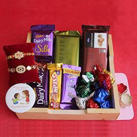 Delectable Chocolate Rakhi Hamper