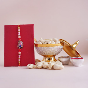 Royal Pearl Rakhi Combo