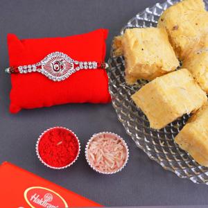 Mouthwatering Soan Papdi & Rakhi Combo
