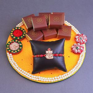 Traditional Rakhi Thali & Sweet Hamper