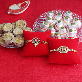 Aesthetic Rakhis with Sweet Delights