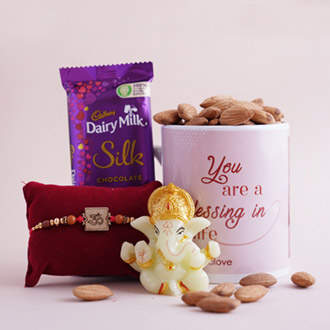 Blissful & Flavorsome Rakhi Surprise - Rakhi with Cadbury Chocolates