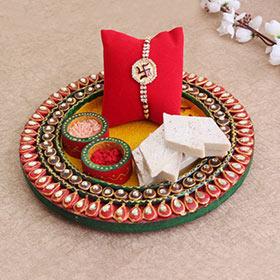 Divine Rakhi Thali