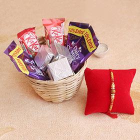 Rakhi Basket of Chocolates