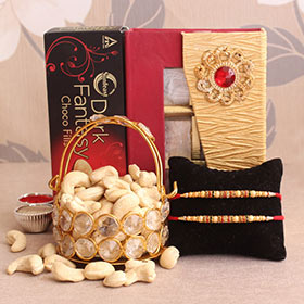 Choco-nutty Rakhi Hamper
