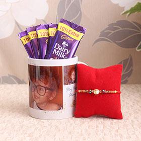 Personalized Mug with Chocolaty Rakhi Combo