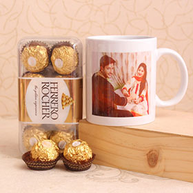 Personalized Mug with Ferrero Rochers - Gifts For Brother Online