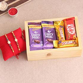 Rakhi Elegance - Rakhi with Cadbury Chocolates