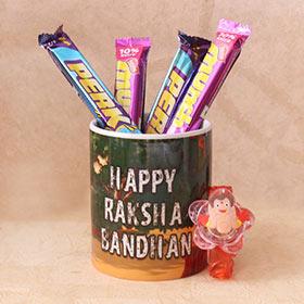 LED Chhota Bheem Rakhi & Chocolate Combo