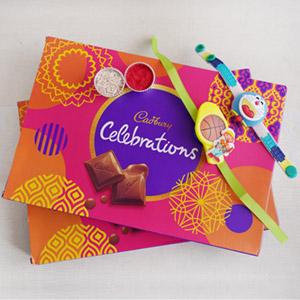 2 Kids Rakhi Set with Cadbury Chocolates
