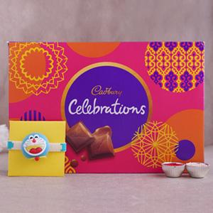 Doremon Rakhi with Cadbury Celebrations