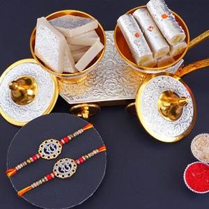 2 Ek Onkar Rakhi with Kaju Sweets