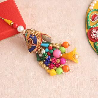 Amazing Golden Lumba Rakhi