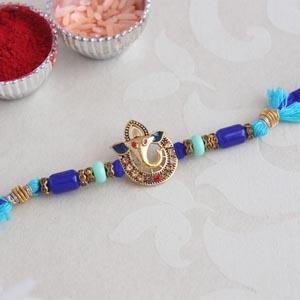 Blue Ganesha Rakhi