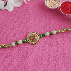 Designer Rakhi for Brother - Turquoise Colour Rakhi