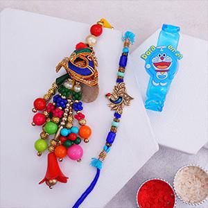 Bhaiya Bhabhi Rakhi With Kids Bracelet