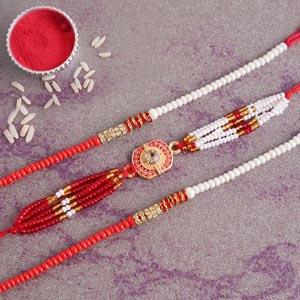Designer Set of Three Rakhi